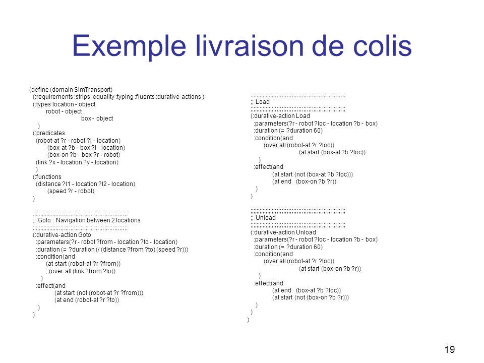 Exemple livraison de colis