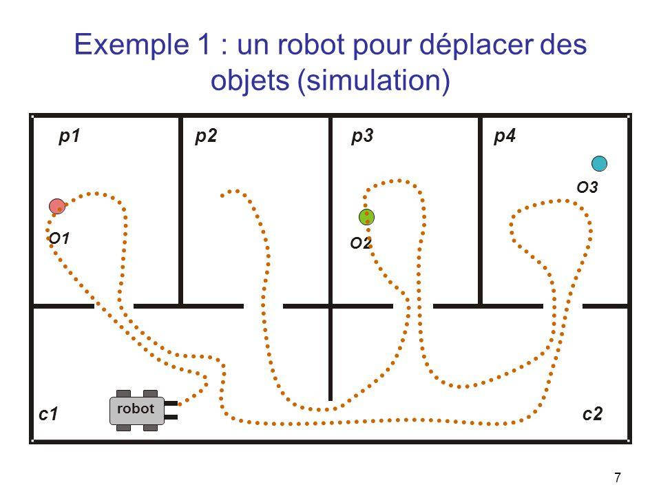 Exemple 1 : un robot pour déplacer des objets (simulation)