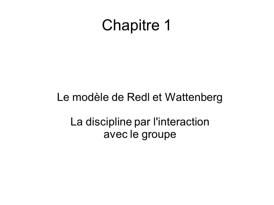 Chapitre 1 Le modèle de Redl et Wattenberg