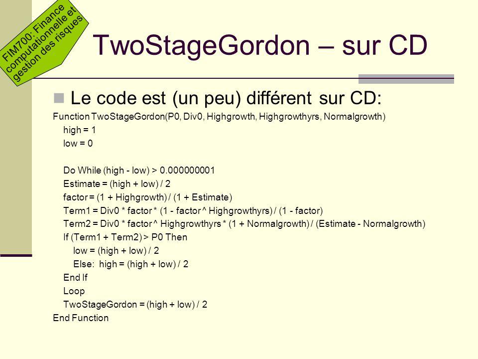 TwoStageGordon – sur CD