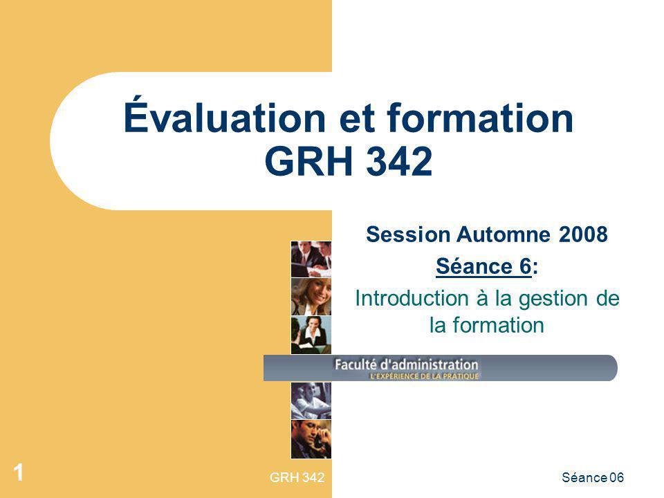 Évaluation et formation GRH 342