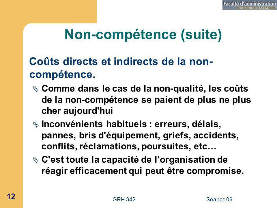 Non-compétence (suite)