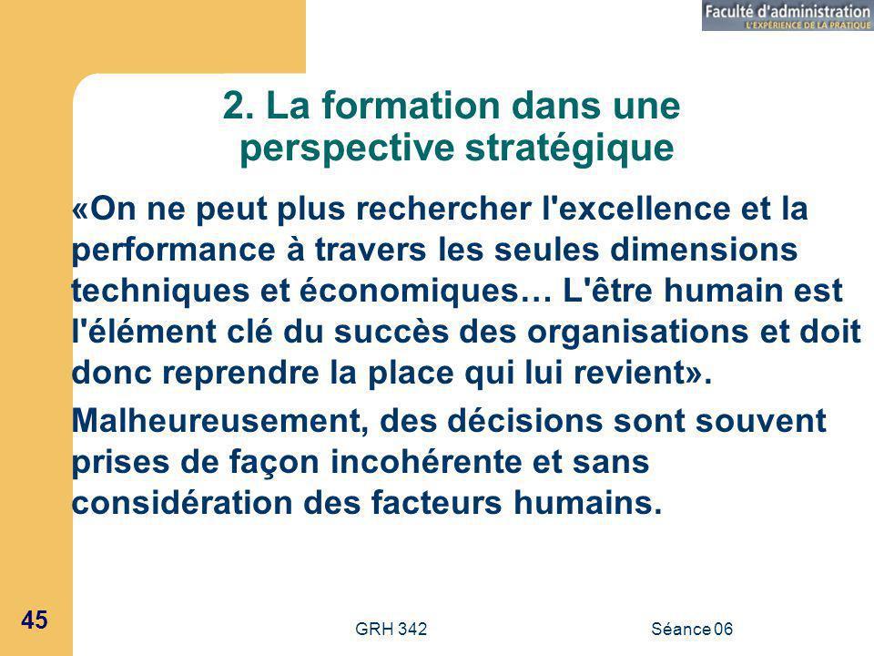 2. La formation dans une perspective stratégique