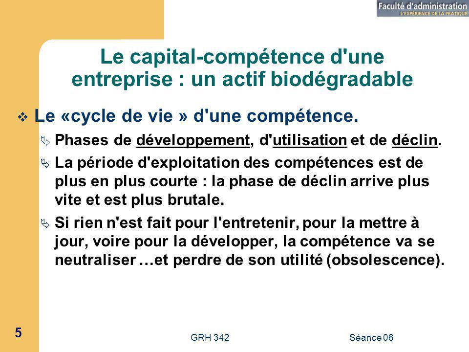 Le capital-compétence d une entreprise : un actif biodégradable