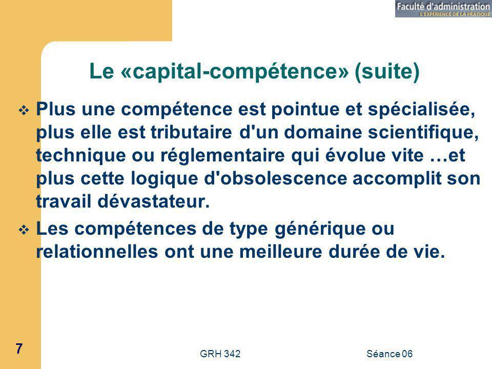 Le «capital-compétence» (suite)
