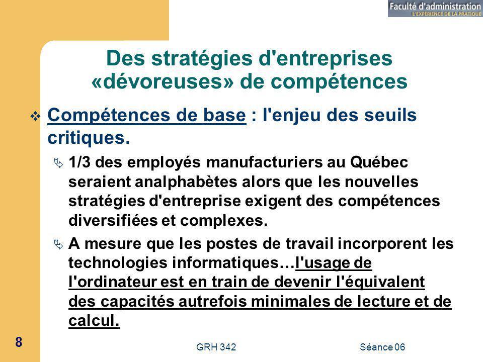 Des stratégies d entreprises «dévoreuses» de compétences