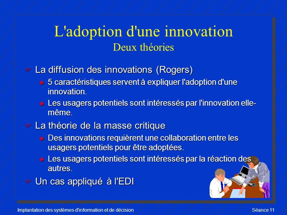 L adoption d une innovation Deux théories