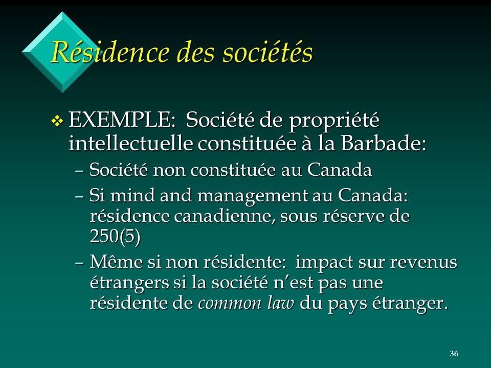 Résidence des sociétés