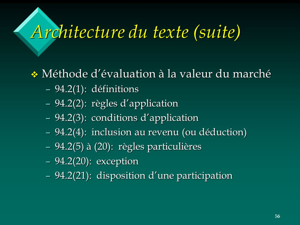 Architecture du texte (suite)