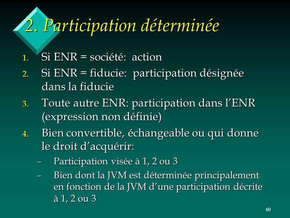 2. Participation déterminée
