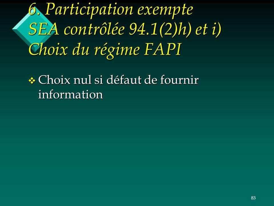 6. Participation exempte SEA contrôlée 94