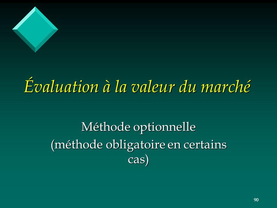 Évaluation à la valeur du marché