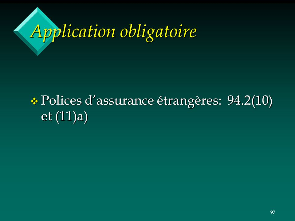 Application obligatoire
