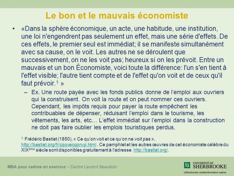 Le bon et le mauvais économiste