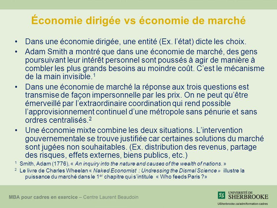 Économie dirigée vs économie de marché