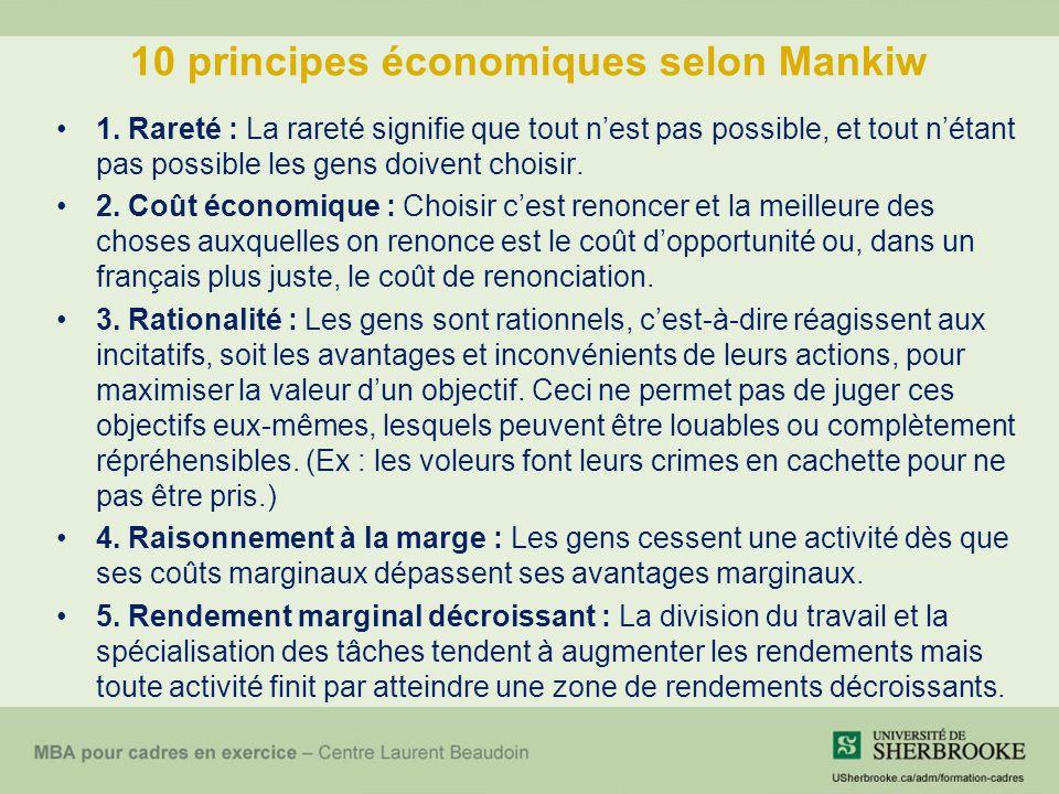 10 principes économiques selon Mankiw