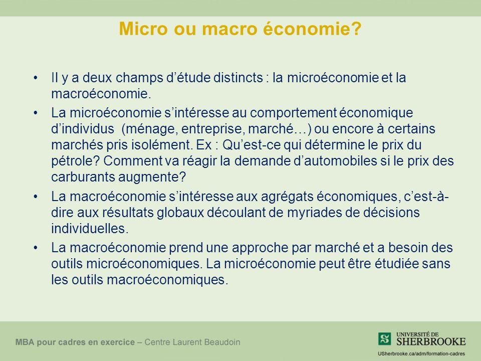 Micro ou macro économie