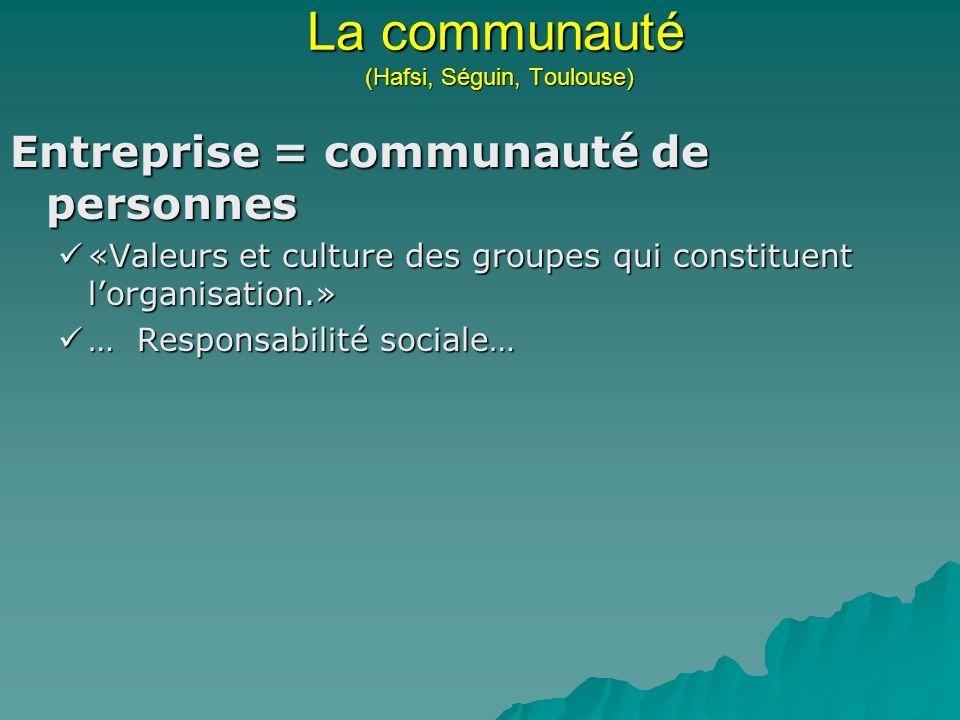 La communauté (Hafsi, Séguin, Toulouse)