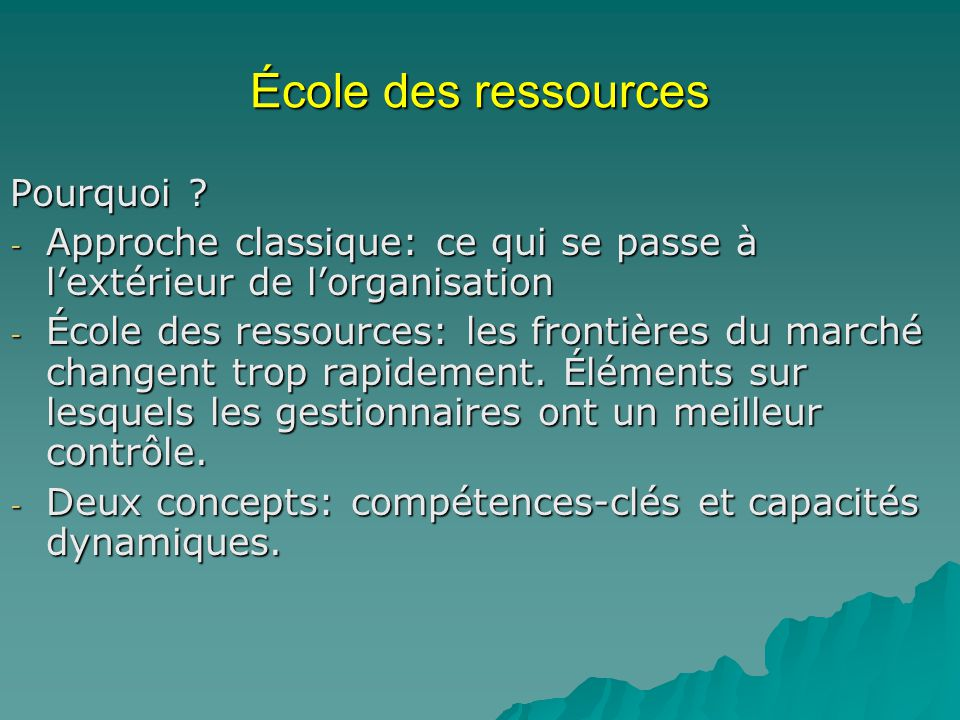 École des ressources Pourquoi