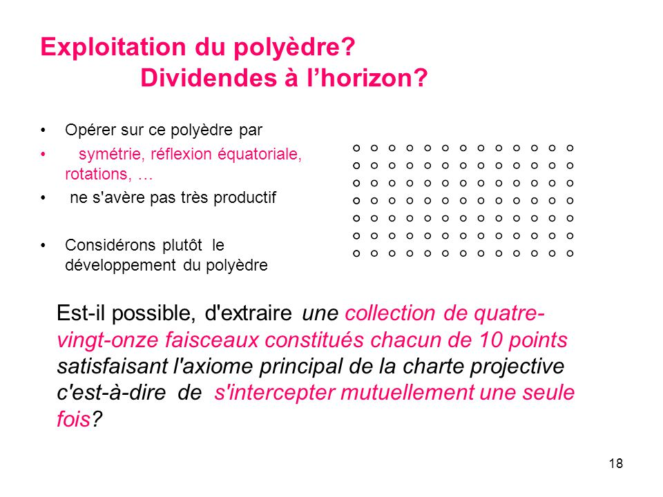 Exploitation du polyèdre Dividendes à l'horizon