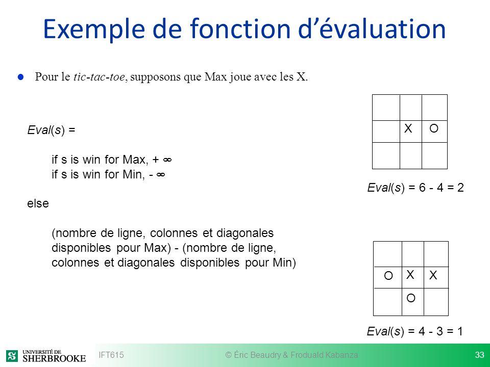 Exemple de fonction d'évaluation
