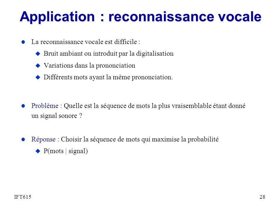 Application : reconnaissance vocale