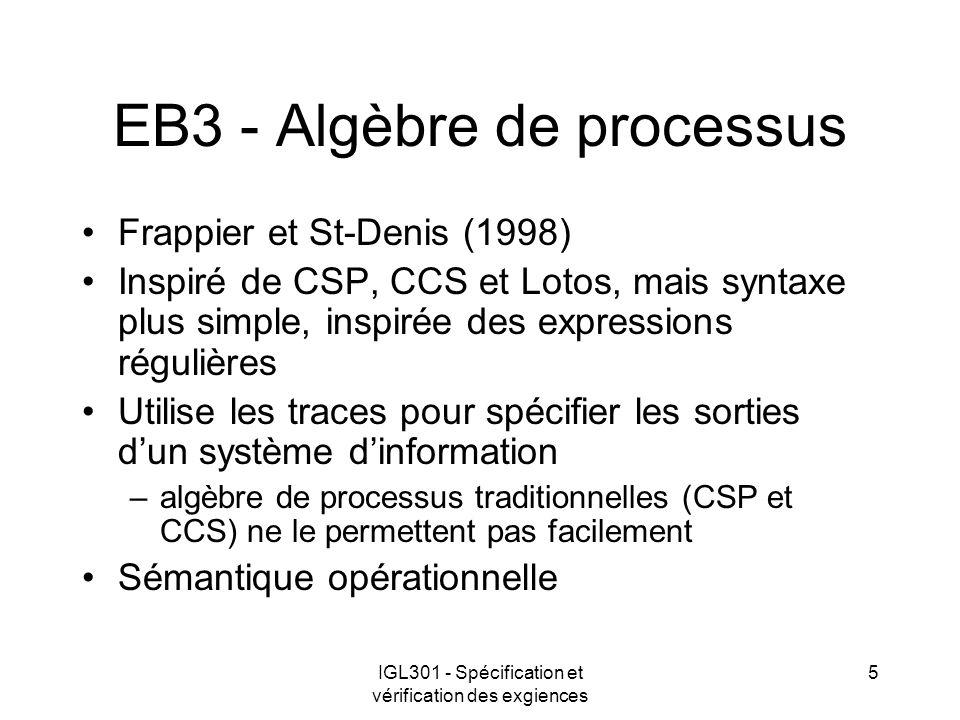 EB3 - Algèbre de processus