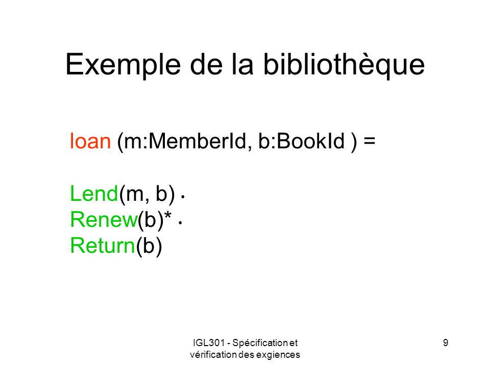 Exemple de la bibliothèque