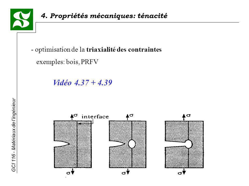 Vidéo 4.37 + 4.39 - optimisation de la triaxialité des contraintes