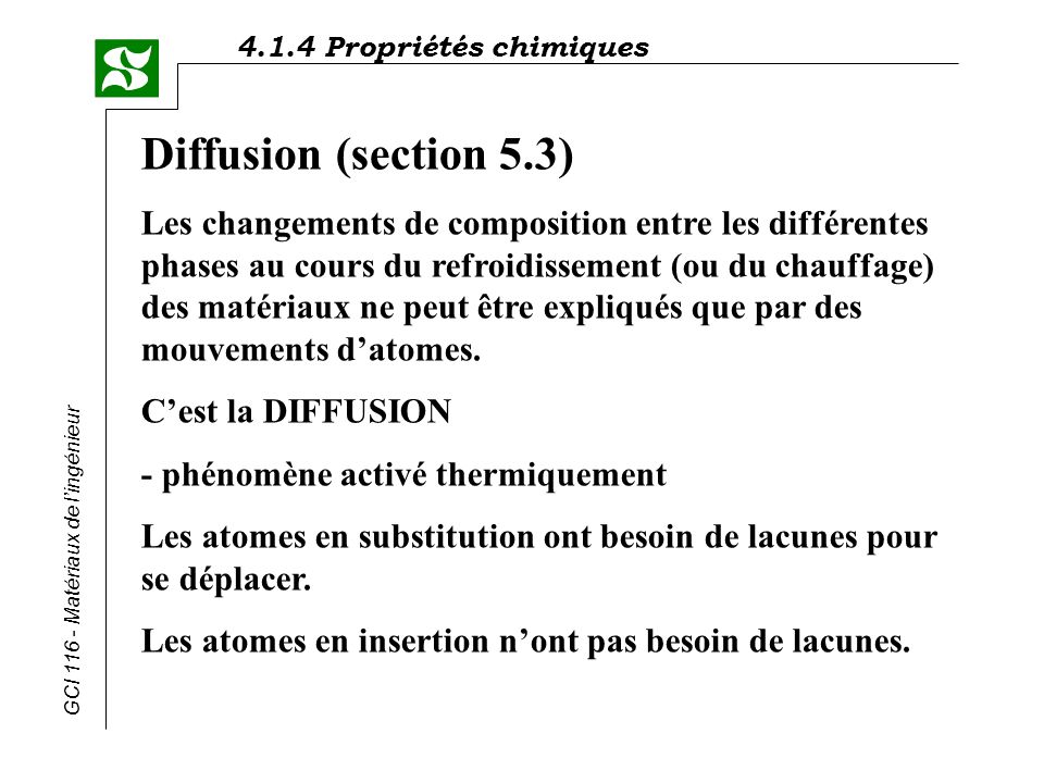 Diffusion (section 5.3)