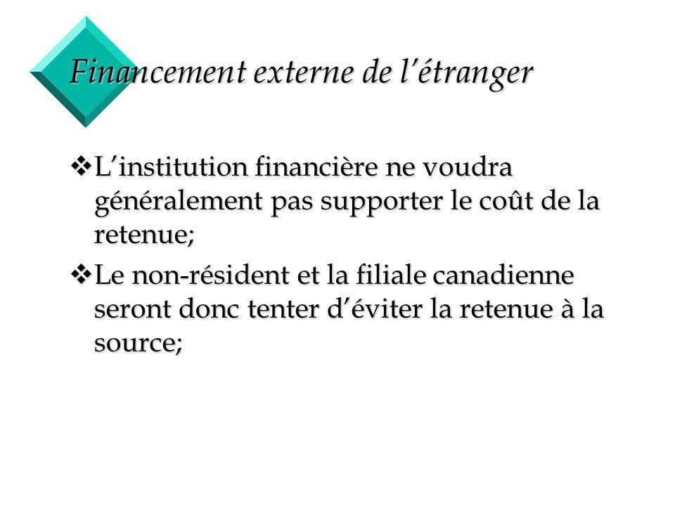 Financement externe de l'étranger