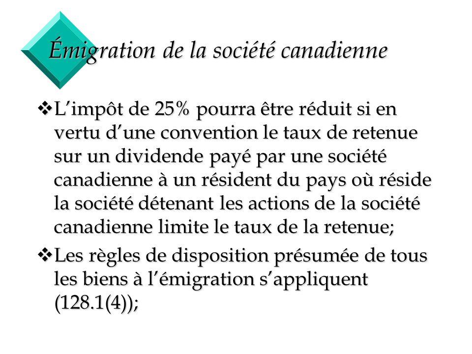 Émigration de la société canadienne