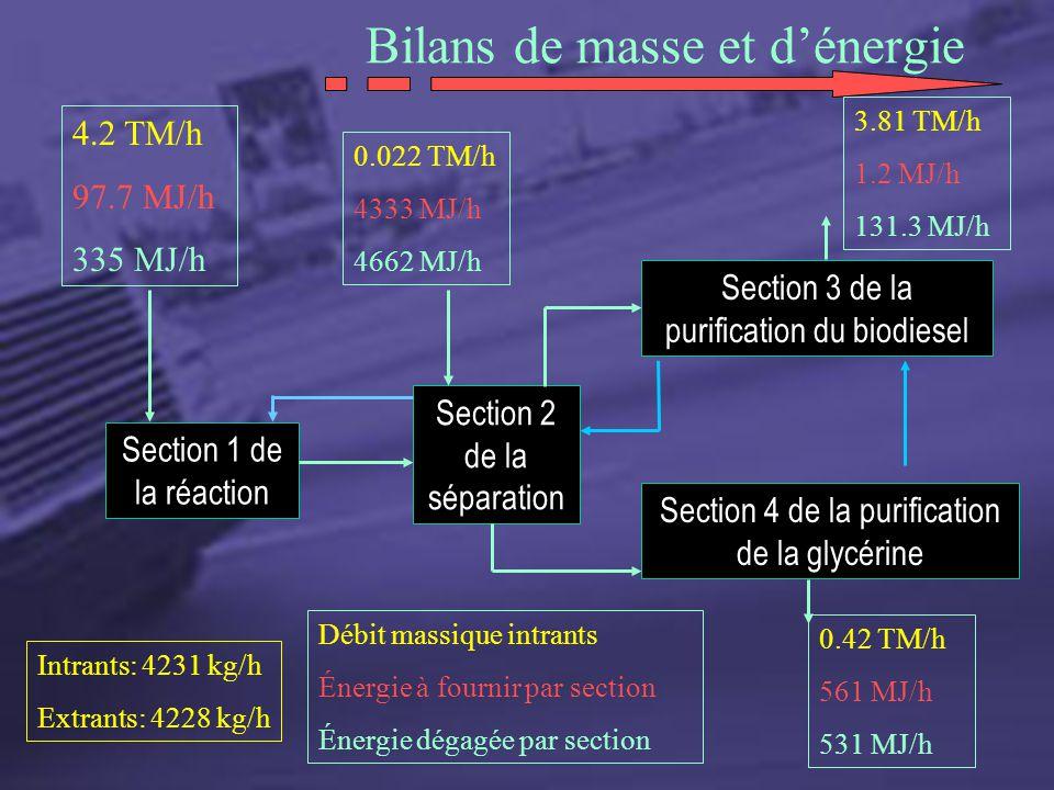 Bilans de masse et d'énergie