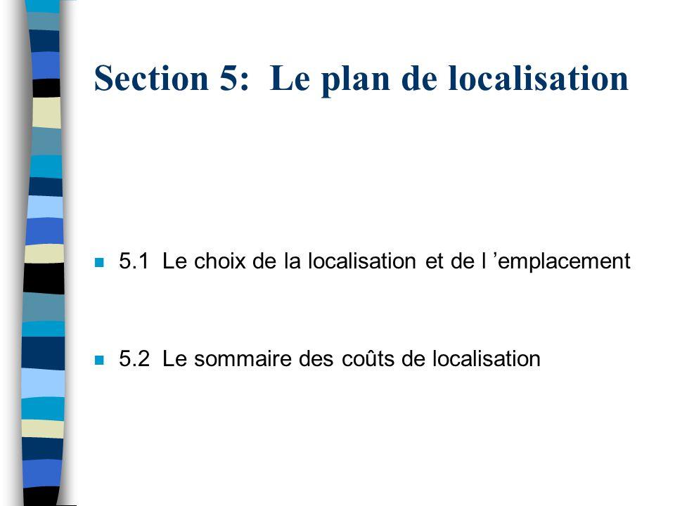 Section 5: Le plan de localisation