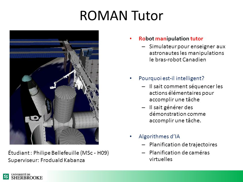 ROMAN Tutor Robot manipulation tutor