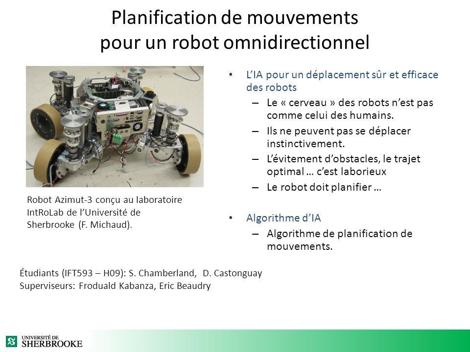 Planification de mouvements pour un robot omnidirectionnel