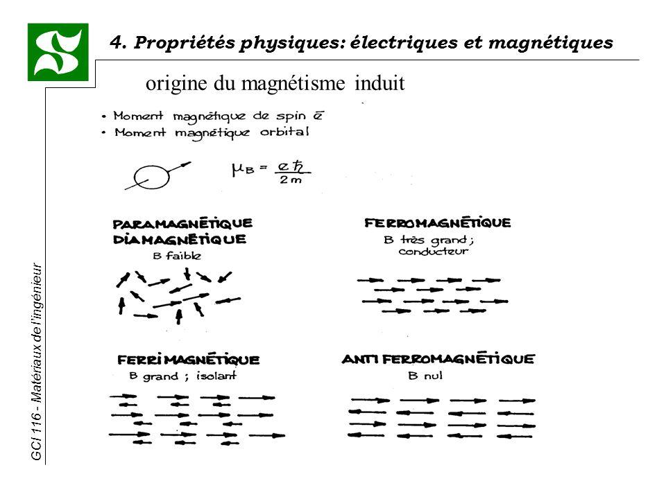 origine du magnétisme induit