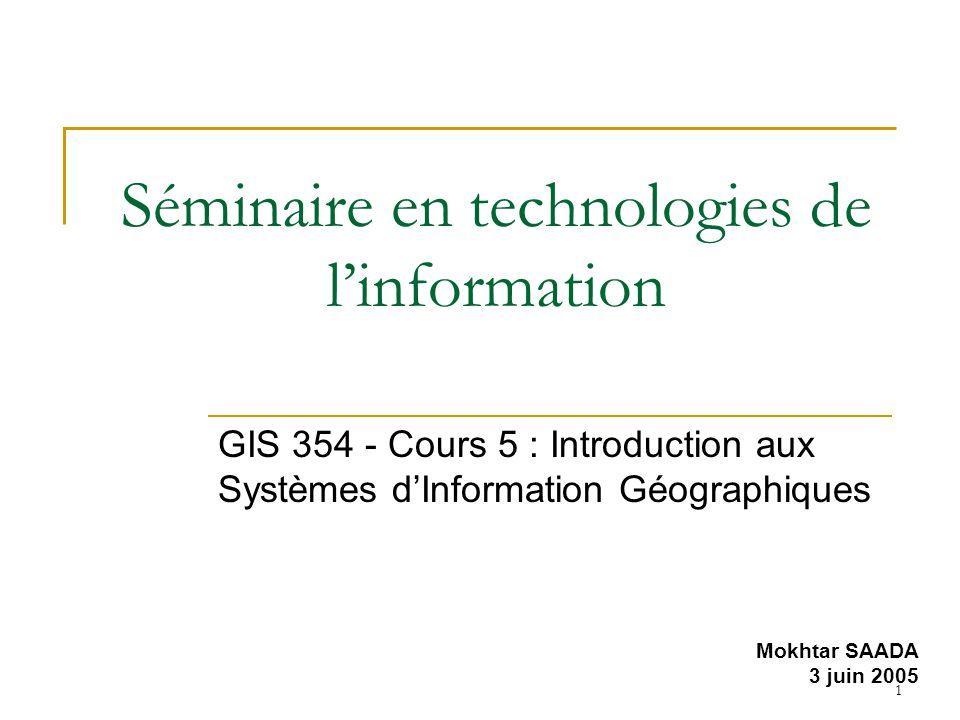 Séminaire en technologies de l'information