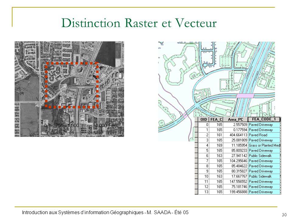 Distinction Raster et Vecteur