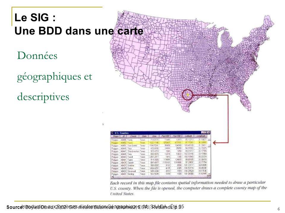 Données géographiques et descriptives