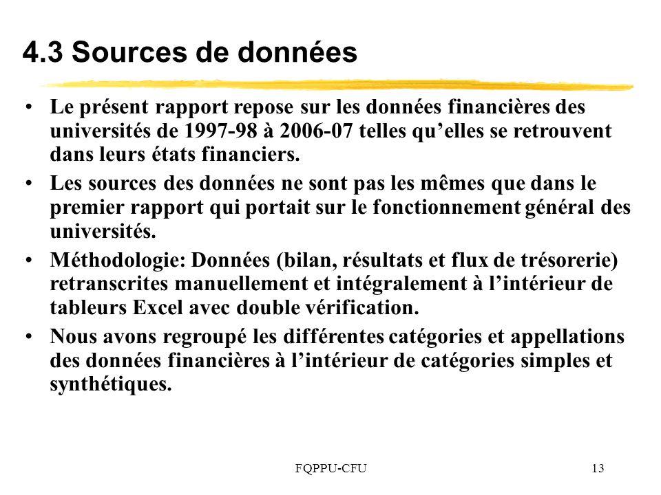 4.3 Sources de données
