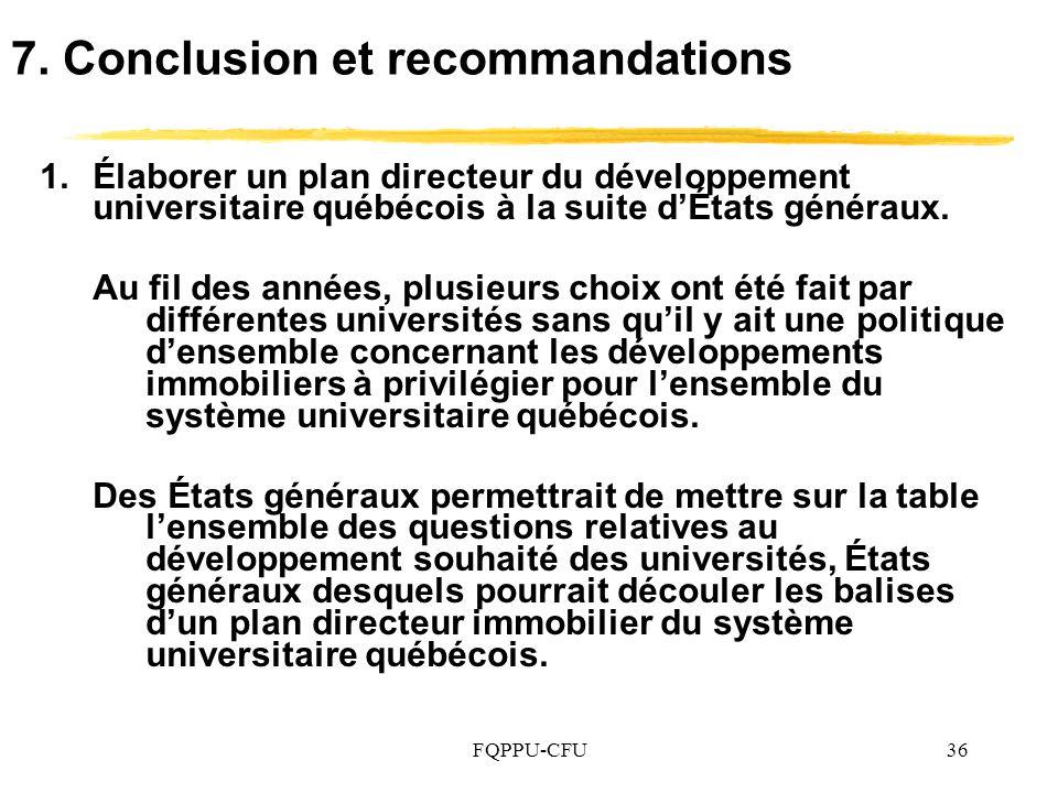 7. Conclusion et recommandations