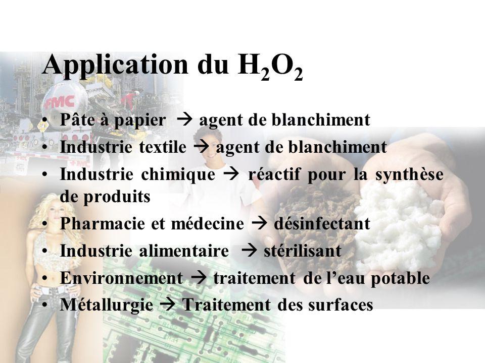 Application du H2O2 Pâte à papier  agent de blanchiment
