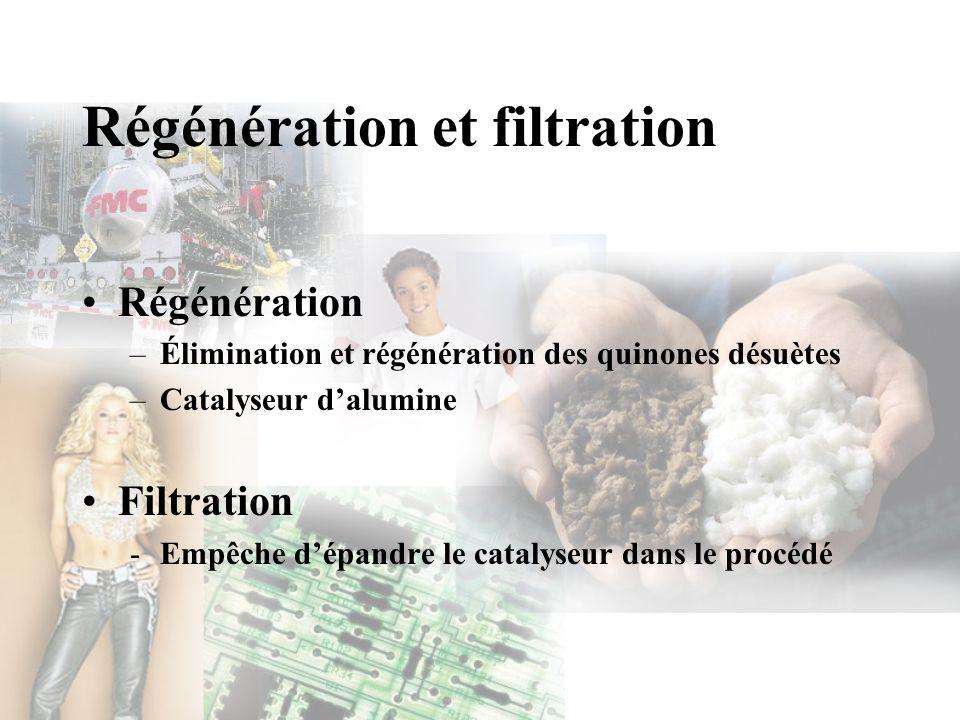 Régénération et filtration