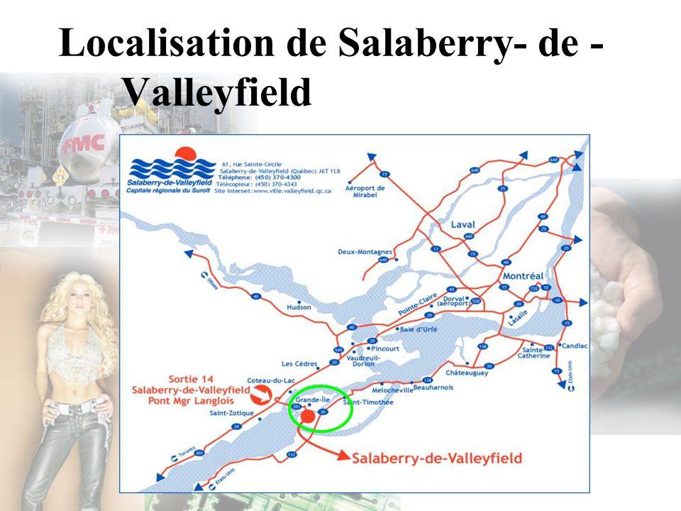 Localisation de Salaberry- de -Valleyfield