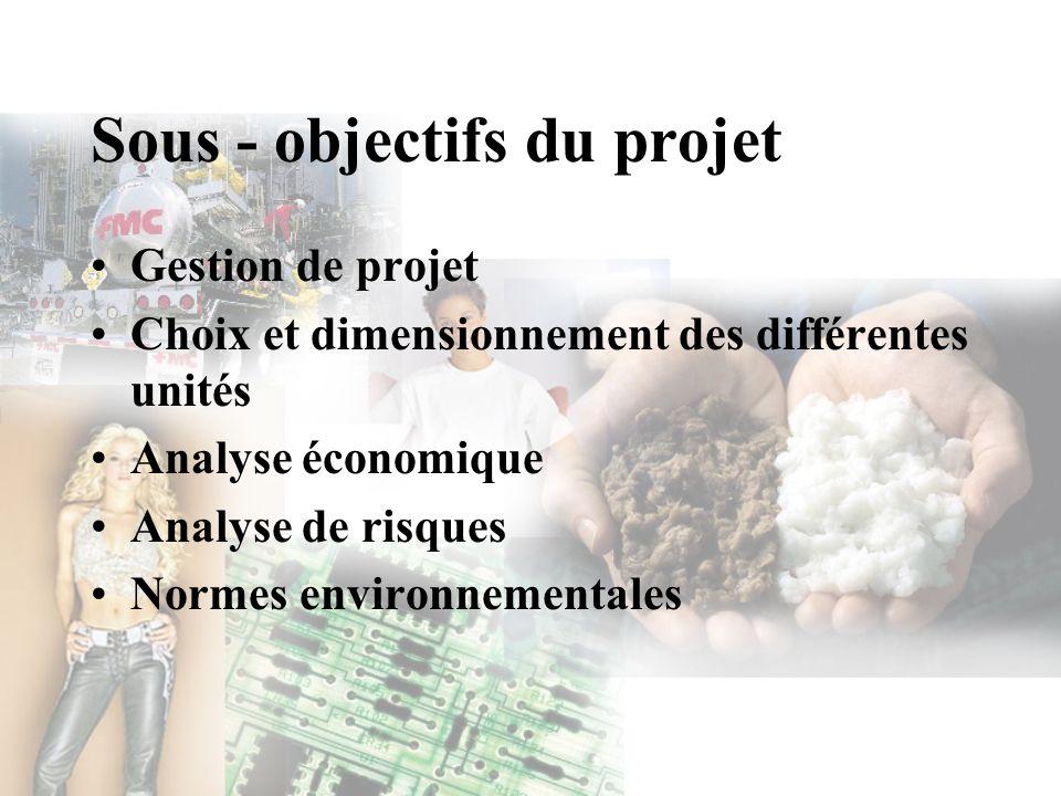 Sous - objectifs du projet