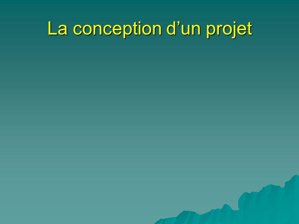 La conception d'un projet