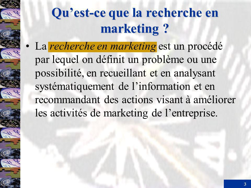 Qu'est-ce que la recherche en marketing