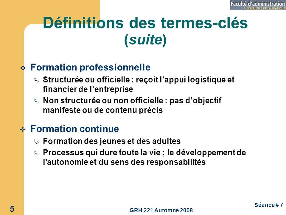 Définitions des termes-clés (suite)