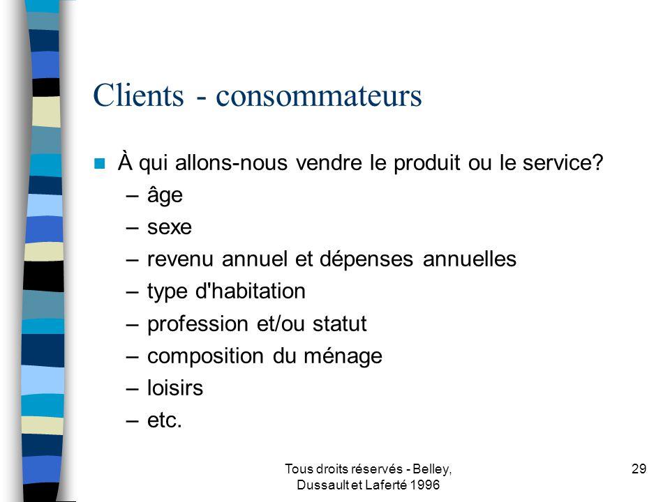 Clients - consommateurs